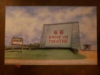Historic Route 66 Drive-In Movie Theatre Carthage MO Postcard