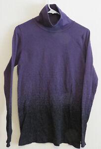 ATHLETA Women's Size Large Purple Turtleneck Activewear Shirt 54023 FA18