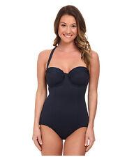 Seafolly Goddess D Cup Mailliot Indigo Blue One Piece Swimsuit Size 12 (AU 16)