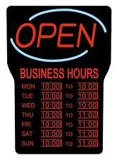Royal Sovereign Illuminated Led Business Open Sign with Hours (Rsb-1342E)