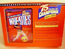 1999 Wheaties 75 years of Champions 24K Gold Signature Mini Box CAL RIPKEN JR