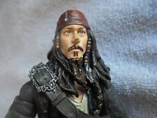 """Pirates of The Caribbean Capt Jack Sparrow Action Figure Jointed 7"""" NECA Sm Flaw"""