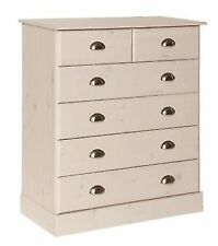Terra Bedroom Chest Whitewash Pine With 6 Drawers