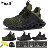 Men Safety Shoes Steel Toe Cap Work Boots Net Sneakers Lightweight Footwear