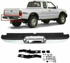 New Chrome Complete Rear Bumper Car Assembly For 1995 2004 Toyota Tacoma Pickup Fits 1996 Toyota Tacoma
