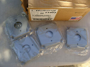 """Lot of 39 - Mulberry 11403, 4"""" Square Wallplate Cover, 1 Single Recpt"""