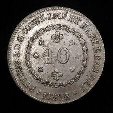 1827-R Brazil 40 Reis high grade coin Km# 363.1