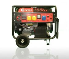 CRYTEC Key Start Petrol Generator Electric - 110/230V 6.5KW Quiet Camping Power