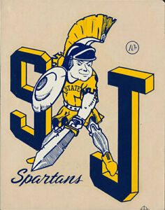 San Jose State College Spartans _ORIG 1950s_ California University Decal Sticker
