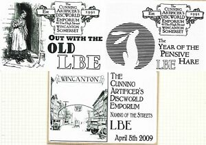 Discworld Stamp LBE 2009 Out with the Old Year of Pensive Hare Naming of Streets