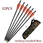 Archery Crossbow Arrows12P +Archery Quiver Camo Waist Shoulder forTarget Hunting