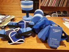 Speedo Pool Water Weights Dumbbells / Barbells, Aqua Belt, Foot Stabilizers