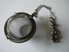 Meerkat Pewter Emblem Tea Ball Mesh Infuser Stainless Steel Sphere Strainer w12