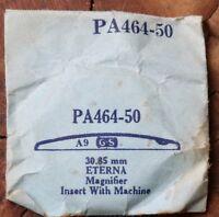 Vintage Eterna divers watch replacement crystal 30.85mm has date window