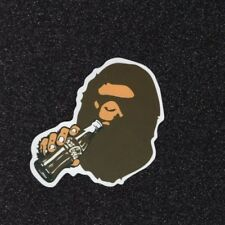 One A Bathing Ape Bape Classic Brown Vinyl Sticker Decal Laptop Luggage Monkey