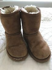 UGG Boots Girls Size 11 Chestnut Suede PLAY CONDITION *read