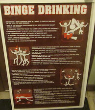 BINGE DRINKING POSTER OOP COLLEGE DRINKING GAMES ALCOHOL