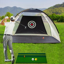 10ft Black Golf Practice Cage Driving Training Net  with Carry Bag+3 Balls+Mat