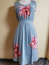 Lil Glimmering Magnolia Shift Dress Sz 0 Silk Sequins Floral Anthropologie VEUC