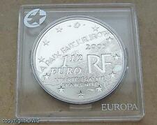 Moneda de plata 1 1/2 euros 2005 francia 60 años de paz y libertad 8. de mayo