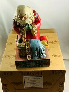 Jim Shore 2008 Real Meaning of Christmas Santa Claus and Jesus Figurine in Box