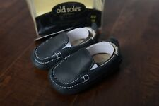 Old Soles Slip ons Moccasins Distressed Navy Boat shoes Baby 3-6  M EU 18