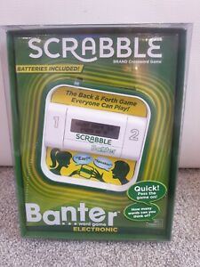 SCRABBLE Banter Electronic Party Game 2-4 Players Camping Holiday Portable Party