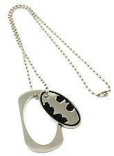 Batman Bat Logo Symbol Metal Cut Out Dog Tag Necklace New Bioworld Official