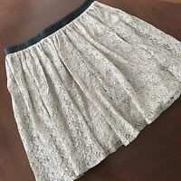Women's Forever 21 Exclusive Lace Skirt Faux Leather Waist size L Lined
