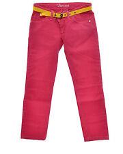 FIORUCCI Jeans colorato logo ricamato con strass cinturino in vita in PROMOZIONE