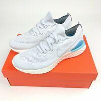 Nike Epic React Flyknit 2 Vast Grey White Sneakers Mens Size 10.5 , 12, 12.5 NWB