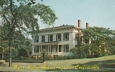 """*Alabama Postcard-""""First White House of The Confederacy"""" (Pres. Jefferson Family"""