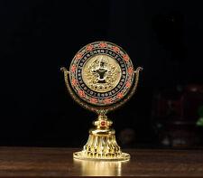 BLESSED 15CM GOLD HOLY CUNDI MIRROR REBOUNCE EVILS! TIBETAN FENG SHUI BALANCER