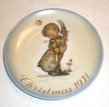 Vintage Schmid Collector Christmas Plate Ltd 1st Edition 1971 West Germany