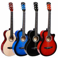 """6in1 Acoustic Classic Guitar Package 3/4 Size 38"""" Beginner Student/Adult UK"""