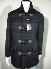 RALPH LAUREN Hooded Wool Landau Blue Plaid Toggle Over Coat size 48 Long( XXL)