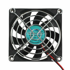 12V 2Pin Computer PC Brushless Cooling Temperature Case Fan 80mm x 80mm x 15mm