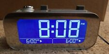 Brookstone TimeSmart Self-Setting Projection Alarm Clock