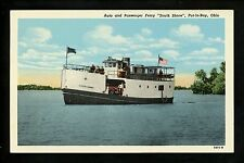 Ship postcard Ferry South Shore Catawba Point & Put In Bay, Ohio OH linen Teich