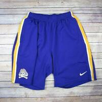 ECU PIRATES Men's Nike Athletic Shorts SIZE L Large Purple & Gold