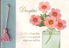 PAPYRUS GRADUATION CARD NIP MSRP $5.95 DAUGHTER FLOWERS CARD (L2)