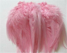 Pink Rooster Saddle Strung Feathers    US Seller