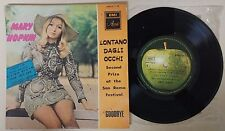 MARY HOPKIN LONTANO DAGLI OCCHI SAN REMO ISRAELI NM EP UNIQUE DIFF HEBREW COVER
