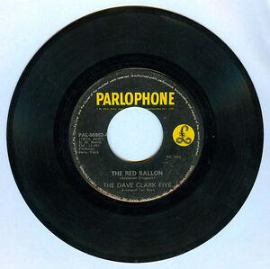 Philippines THE DAVE CLARK FIVE The Red Ballon 45 rpm Record
