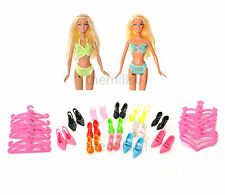 8 Pieces Barbie Doll Bikini's Swimming Costume Swimwear Clothes Bundle Lot B1