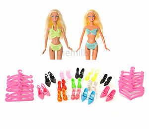 8 Pieces Barbie Doll Bikini's Swimming Costume Swimwear Clothes Bundle Lot B1