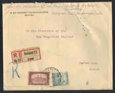 HUNGARY TO US 1922 REG BUDAPEST FROM PRESIDENT OF THE ROYAL HUNGARIAN UNIVSTY TO