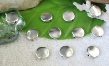 50pcs Tibetan Silver Metal smooth round spacer beads FC10130