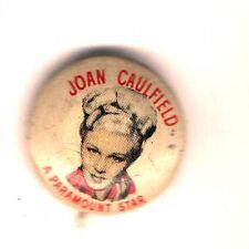 1940s pin Joan CAULFIELD button QUAKER Cereal Premium