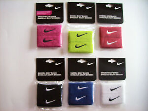 Nike Bicep Bands 2 per pk OSFM Select Color Black Blue Red White Swoosh NIP